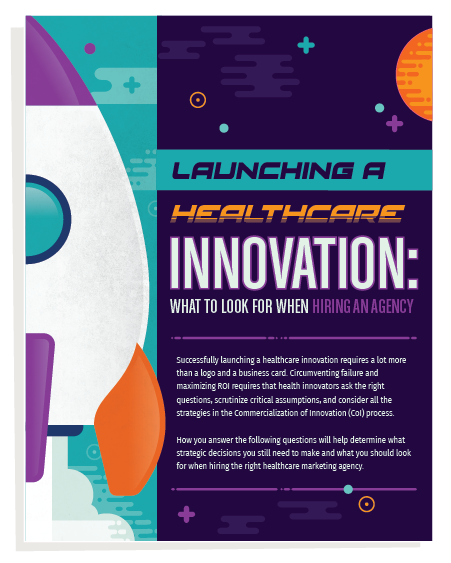 Launching a Healthcare innovation_landing page graphic